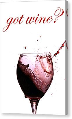 Got Wine Canvas Print by Michael Ledray