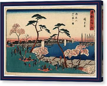Gotenyama Hanazakari No Zu Canvas Print by Utagawa Hiroshige Also And? Hiroshige (1797-1858), Japanese