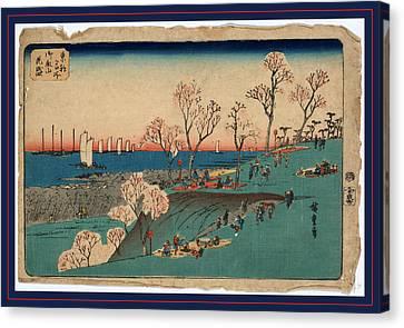 Gotenyama Hanazakari Canvas Print by Utagawa Hiroshige Also And? Hiroshige (1797-1858), Japanese