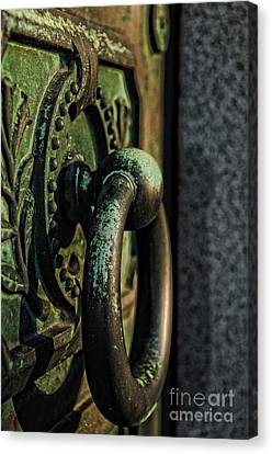 Goth - Crypt Door Knocker Canvas Print by Paul Ward