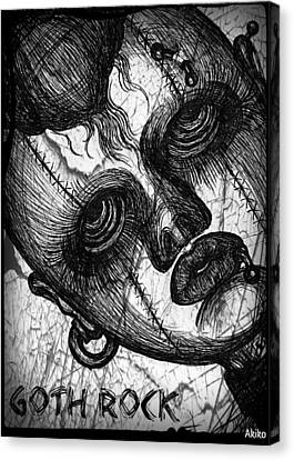 Goth Rock Canvas Print by Akiko Okabe