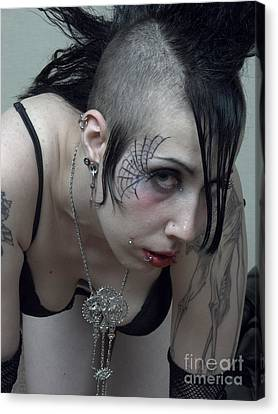 Canvas Print - Goth Woman Prortrait by Andrew Govan Dantzler