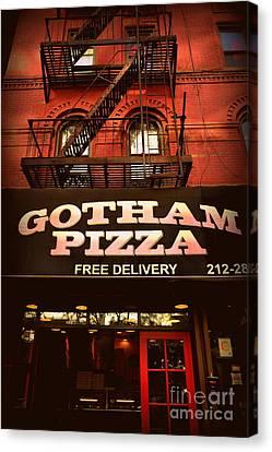 Gotham Pizza Canvas Print by Miriam Danar