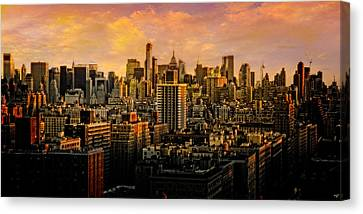 Canvas Print featuring the photograph Gotham Sunset by Chris Lord