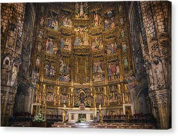 Medieval Temple Canvas Print - Gothic Altar Screen by Joan Carroll