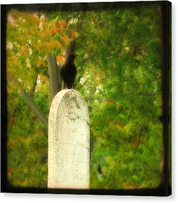 Gothic Autumn Canvas Print by Gothicrow Images