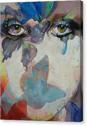 Face Canvas Print - Gothic Butterflies by Michael Creese