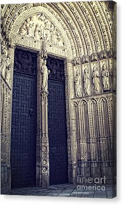 Gothic Cathedral Toledo Canvas Print by Ivy Ho
