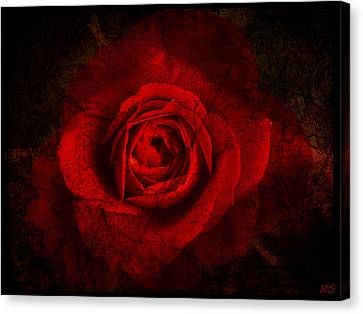 Gothic Red Rose Canvas Print by Absinthe Art By Michelle LeAnn Scott