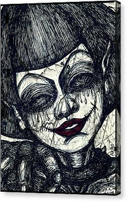 Gothic Smile Canvas Print by Akiko Okabe