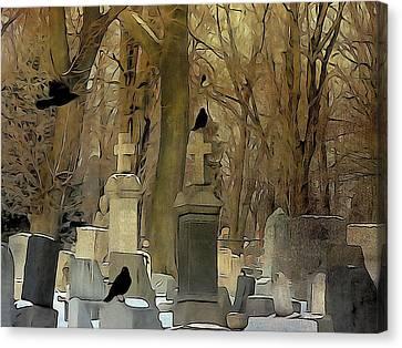 Gothic Splash Canvas Print by Gothicolors Donna Snyder
