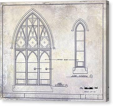 Gothic Window Detail Canvas Print