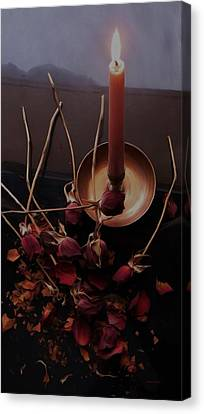 Gothic Witch's Spell Canvas Print by Barbara St Jean