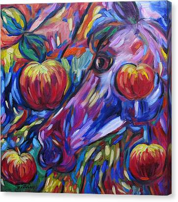 Gotta Luv Them Rosie Apples I Canvas Print by Dianne  Connolly