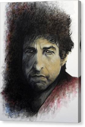 Gotta Serve Somebody - Dylan Canvas Print by William Walts