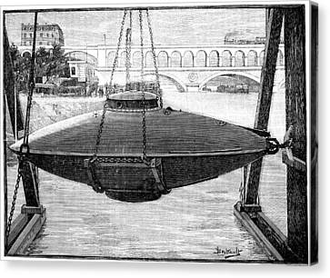 Goubet Submarine, 1880s Canvas Print by Science Photo Library