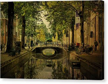 Canvas Print featuring the photograph Gouda In Vintage Look by Annie Snel