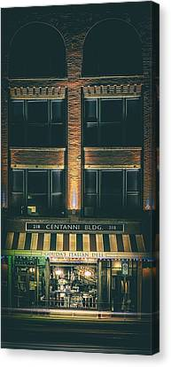 Goudas Italian Deli Color Canvas Print by Scott Norris