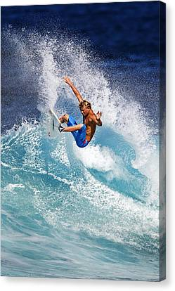 Gouging The Wave  C6j0694 Canvas Print