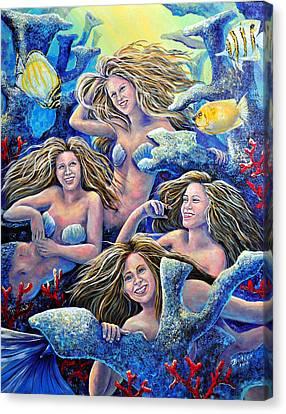 Goulden Maids Canvas Print by Gail Butler