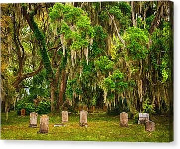 Gould's Cemetery Canvas Print by Priscilla Burgers