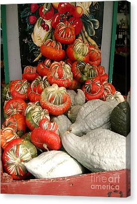 Canvas Print featuring the photograph Gourds Piled High by Joyce Gebauer