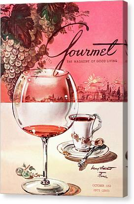 Gourmet Cover Illustration Of A Baccarat Balloon Canvas Print by Henry Stahlhut