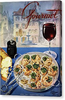 French Culture Canvas Print - Gourmet Cover Illustration Of A Platter by Henry Stahlhut