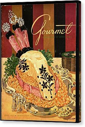 Gourmet Cover Illustration Of Langue De Boeuf Canvas Print by Henry Stahlhut