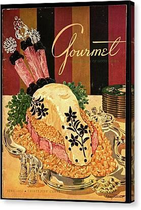 Gourmet Cover Illustration Of Langue De Boeuf Canvas Print by Henry Stahlhut