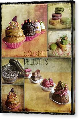 Gourmet Delights - Collage Canvas Print by Barbara Orenya