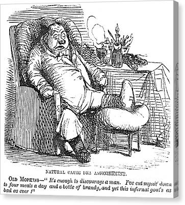 Gout Cartoon, 19th Century Canvas Print