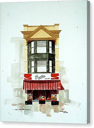 Govatos' Candy Store Canvas Print by William Renzulli