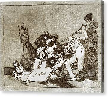 Goya Disasters Of War Canvas Print by Granger