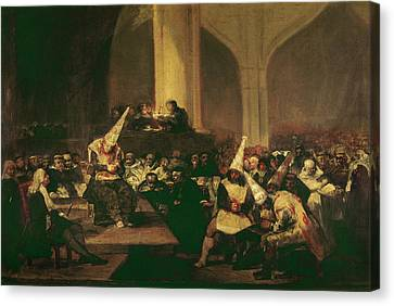Goya Inquisition, 1816 Canvas Print by Granger