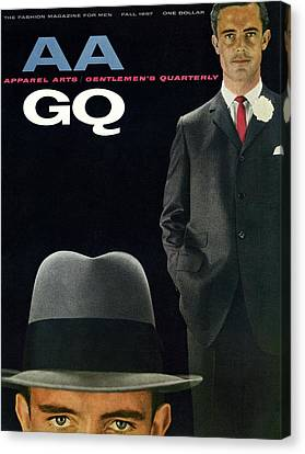 Gq And Aa Cover Of A Montage Of A Male Model Canvas Print
