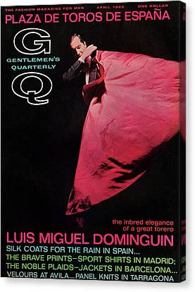Gq Cover Featuring Miguel Dominguin Canvas Print by Carl Fischer