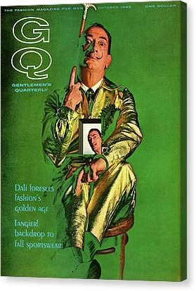 Gq Cover Featuring Salvador Dali Canvas Print by Chadwick Hall