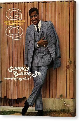 Gq Cover Featuring Sammy Davis Jr Canvas Print by Milton Greene