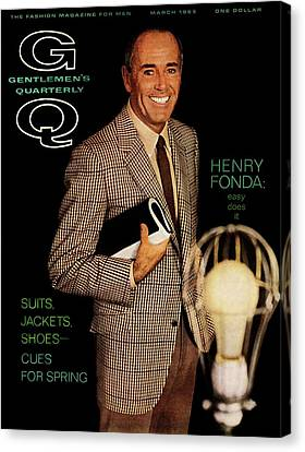 Gq Cover Of Henry Ford Canvas Print by Chadwick Hall