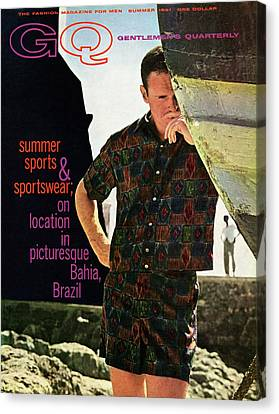 Gq Cover Of Male Model In Bahia Canvas Print by Chadwick Hall
