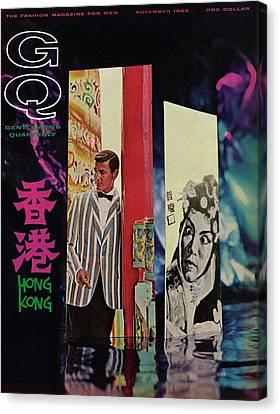 Hong Kong Canvas Print - Gq Cover Of Model In Hong Kong by Richard Ballarian
