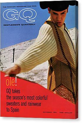 Man Looking Down Canvas Print - Gq Cover Of Spanish Matador by Chadwick Hall