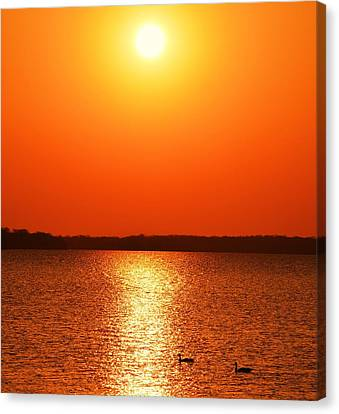 Grab Your Cup Of Coffee And Enjoy The Sunrise Canvas Print by Dacia Doroff