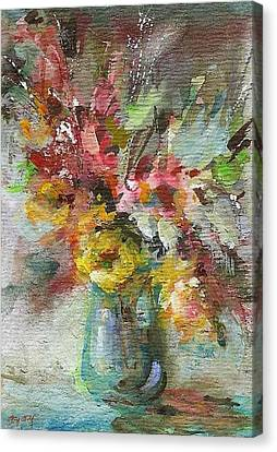 Grace And Beauty Canvas Print by Mary Wolf
