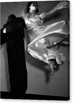 Grace And Paul Hartman Dancing Canvas Print by Edward Steichen
