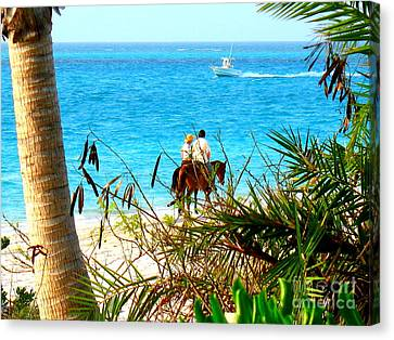 Grace Bay Riding Canvas Print by Patti Whitten
