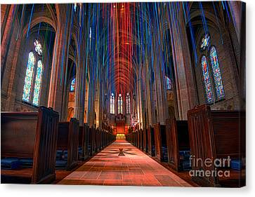 Grace Cathedral San Francisco Canvas Print by Peter Dang