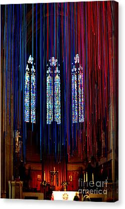 Grace Cathedral With Ribbons Canvas Print by Dean Ferreira