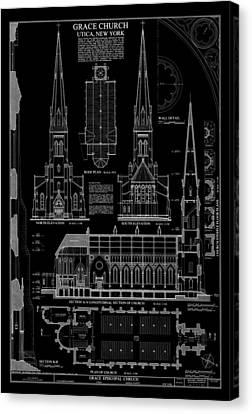 Grace Church - Utica New York Canvas Print